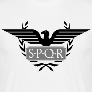 Laurel wreath eagle Aquila SPQR Rome  T-Shirts - Men's T-Shirt