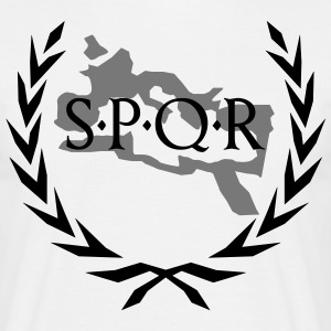 Laurel wreath SPQR Rome outline  T-Shirts - Men's T-Shirt