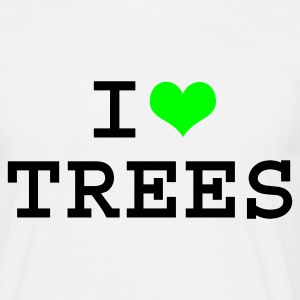 White I Love Trees Men's Tees - Men's T-Shirt