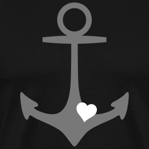 anchor and heart ancre et coeur Tee shirts - T-shirt Premium Homme