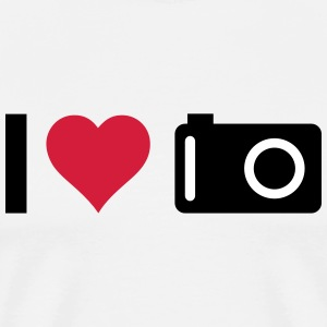 i love my camera j'aime mon appareil photo Tee shirts - T-shirt Premium Homme