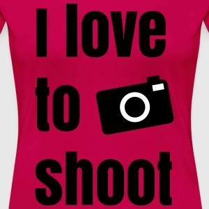 i love to shoot photos T-Shirts - Women's Premium T-Shirt