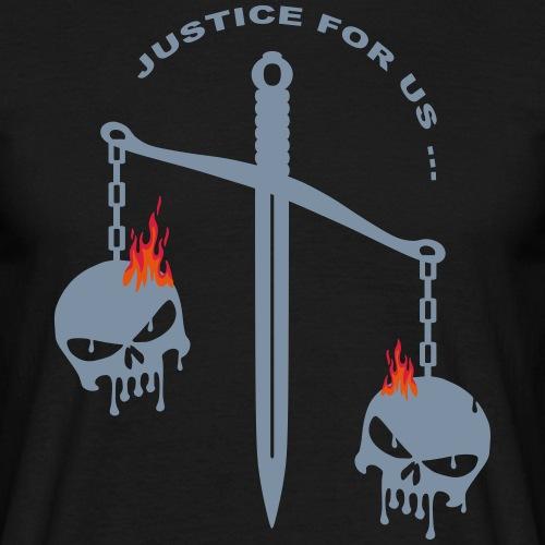 justice skull fire