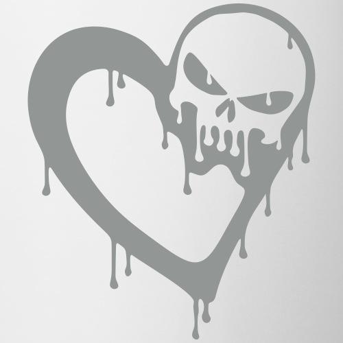 Tete de mort coeur ciselé - exclusivité boutique