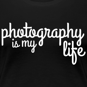 photography is my life fotografie is mijn leven T-shirts - Vrouwen Premium T-shirt