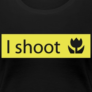 i shoot macro photos disparé fotos macro Camisetas - Camiseta premium mujer