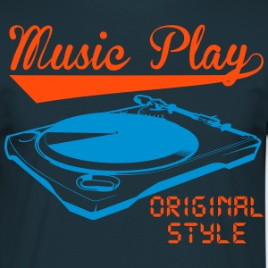 music play Tee shirts - T-shirt Homme
