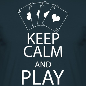 KEEP CALM and PLAY T-Shirts - Men's T-Shirt