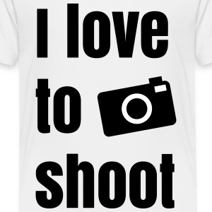 i love to shoot photos me encanta tomar fotos Camisetas - Camiseta premium niño