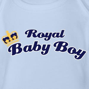 Royal Baby Boy Body - Organic Short-sleeved Baby Bodysuit