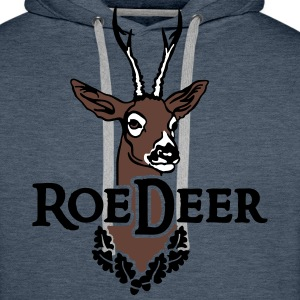 roe_deer_head Hoodies & Sweatshirts - Men's Premium Hoodie