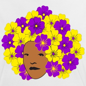 Flowery Summery Afro T-Shirts - Women's Ringer T-Shirt