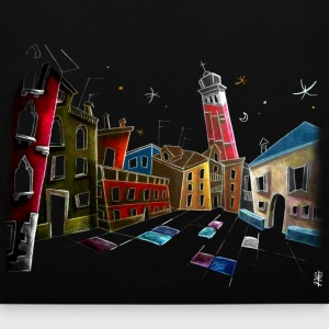 Bag Design - Venice Illustration - Tote Bag