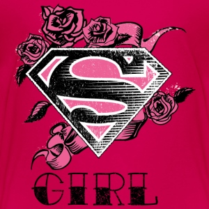 Tee-shirt pour enfants Superman S-Shield Girl Rose - T-shirt Premium Enfant