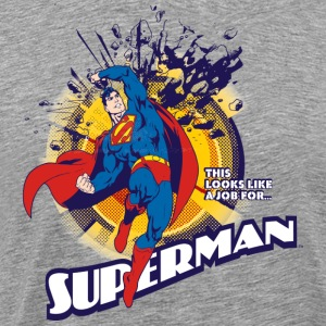 Supermann T-skjorte Job for menn  - Premium T-skjorte for menn