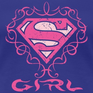 Superman S-Shield Girl T-shirt til damer - Dame premium T-shirt