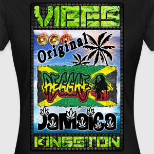 vibes original reggae jamaica kingston T-Shirts - Women's T-Shirt