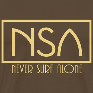 nsa never surf alone T-shirts - Herre premium T-shirt