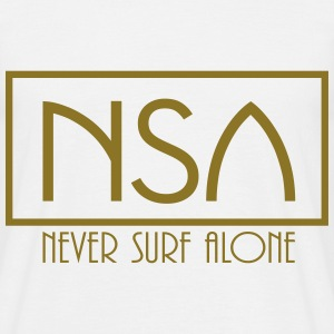 nsa never surf alone T-Shirts - Men's T-Shirt
