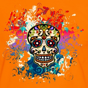 Mexican Sugar Skull - Day of the Dead T-Shirts - Men's Ringer Shirt