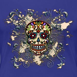 Mexican Sugar Skull - Day of the Dead T-shirts - Premium-T-shirt dam