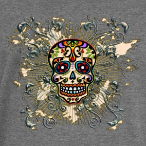 Mexican Sugar Skull - Day of the Dead Felpe - Felpa con scollo a barca da donna, marca Bella