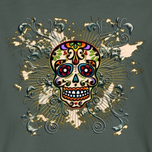 Mexican Sugar Skull - Day of the Dead T-shirts - Ekologisk T-shirt herr
