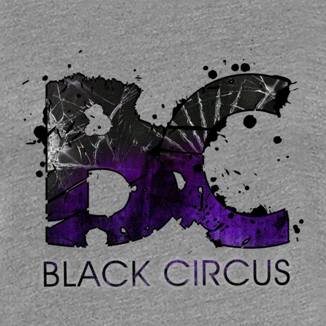 BC-Shirt Girly, Logo front purple, Logo back white