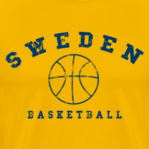 Sweden Basketball - Premium-T-shirt herr