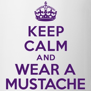 Keep calm and wear mustache Bouteilles et tasses - Tasse