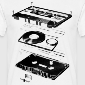 White Compact Cassette- Tape - Music - 80s Men's Tees - Men's T-Shirt
