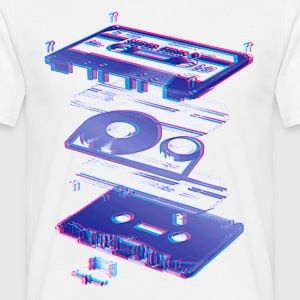 Wit audio cassette tape compact 80s retro walkman T-shirts - Mannen T-shirt