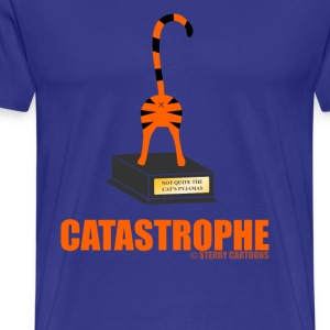 Catastrophe: Rude Cat Joke by Sterry Cartoons T-Shirts - Men's Premium T-Shirt