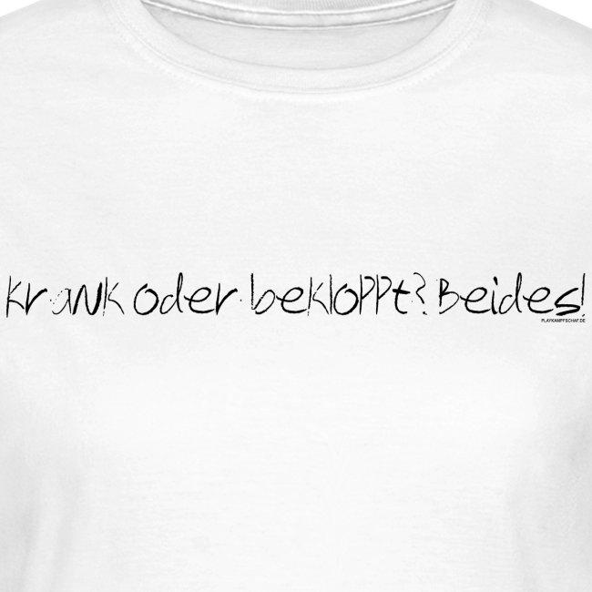 Spruch - KobB - Schrift Schwarz