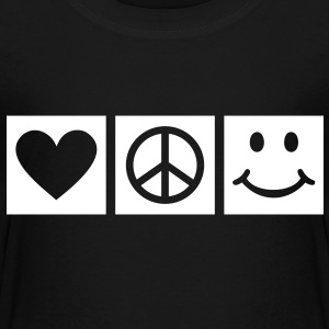 Peace Love Happiness * Smiley Smilie icon hart Shirts - Kinderen Premium T-shirt