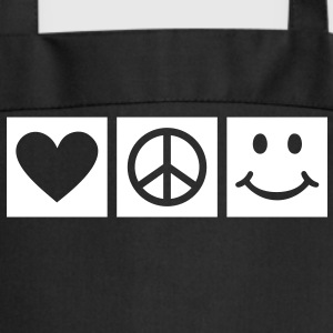 Love Peace Happiness * Smiley Smilie ikoni sydän Esiliinat - Esiliina