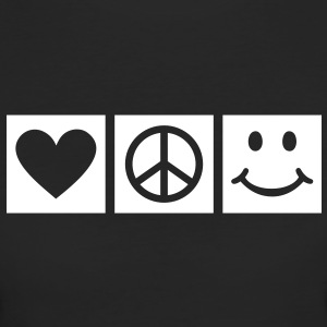 Love Peace Happiness * Smiley Smilie Herz Peace  T-Shirts - Frauen Bio-T-Shirt
