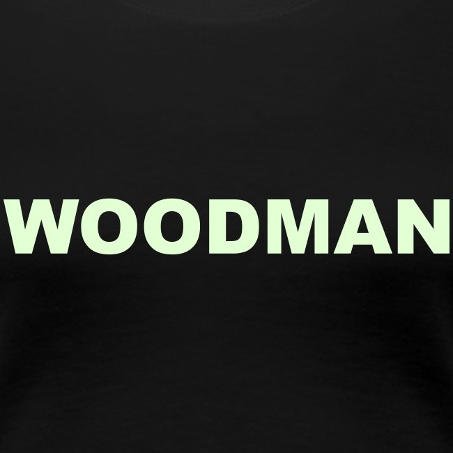 Glow in the dark - WOODMAN + Spider V2, Women's T-Shirt, F/B