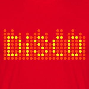 Rood disco 2c equalizer NL T-shirts - Mannen T-shirt