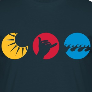 Shaka sun water waves greeting  T-Shirts - Men's T-Shirt