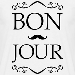Bonjour - Moustache Tee shirts - Tee shirt Homme