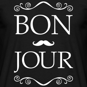 Bonjour - Moustache T-Shirts - Men's T-Shirt
