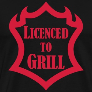 Licenced to Grill T-skjorter - Premium T-skjorte for menn