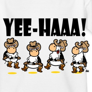 White Yee-HAAA! Linedancing Cows Kid's Shirts  - Teenage T-shirt