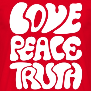 Love Peace Truth * Lifestyle 70s T-Shirts Goa T-skjorter - T-skjorte for menn