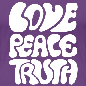 Love Peace Truth Retro style 70s T-Shirts Goa - Women's Premium T-Shirt