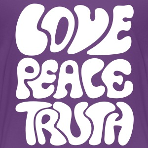 Love Peace Truth * Lifestyle 70s T-Shirts Goa Skjorter - Premium T-skjorte for tenåringer