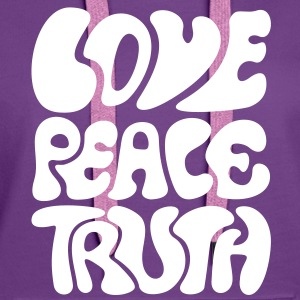 Love Peace Truth * Lifestyle 70s T-Shirts Goa   - Sweat-shirt à capuche Premium pour femmes
