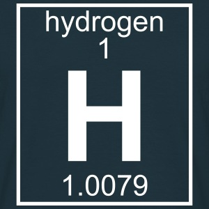 Periodic table element 1 - H (hydrogen) - BIG T-skjorter - T-skjorte for menn
