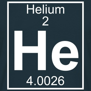 Periodic table element 2 - He (helium) - BIG T-shirts - Herre-T-shirt
